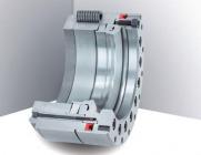 Giunto di serraggio per tavoli inclinabili rotanti con precisione angolare al millesimo di millimetro