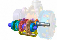 Simulation software for the behavior of the transmission and drive train
