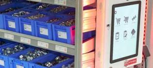 Kanban box-modeller med RFID ordnar automatiskt C-delar