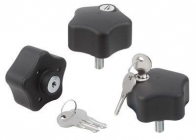 安全性を高めるロック可能な操作ハンドル