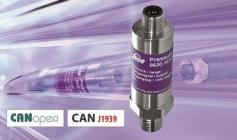 CANオープンおよびCAN J1939インターフェース付きデジタル圧力トランスミッタ