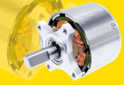 Brushless DC external rotor motors with extreme power density