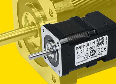 Stepper motor with control