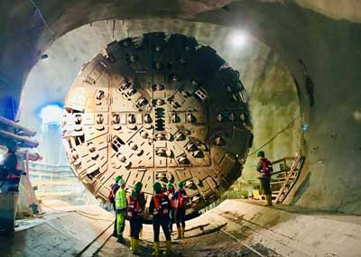 Safety coupling protects non-destructive tunnel boring machines