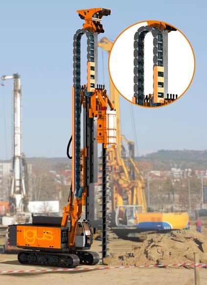 高さのためにプラスチックと鋼で作られたハイブリッドエネルギーチェーン