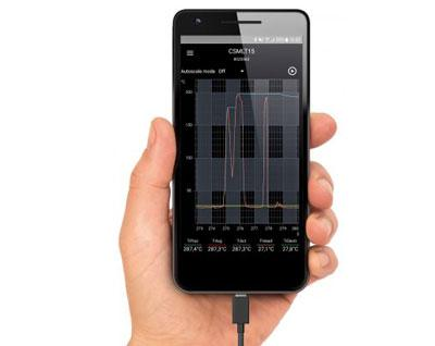 Operate IR cameras and pyrometers with your smartphone