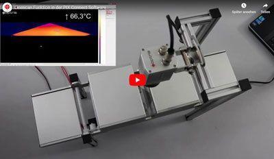 Configurar a função Linescanning para medição com termovisor