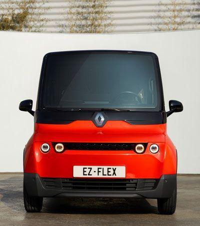 Concepto de una furgoneta eléctrica para la última milla.