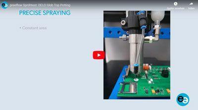Dispensador de spray para cola no teste de pulverização
