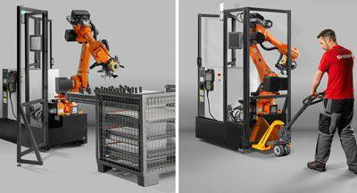 Telaio per macchina di colaggio minerale in un robot a sei assi basato su telecamere